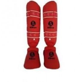 Kihon Karate Ayak Kaval Koruyucu Takım Kırmızı