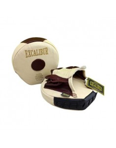 Excalibur Krem Kahve Mini Avuç Lapa Ellik Hakiki Deri Çift